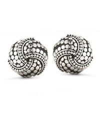 John Hardy Pre-owned Silver Circular Earrings - Lyst