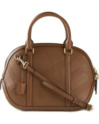 Burberry Embossed Check Tote - Lyst