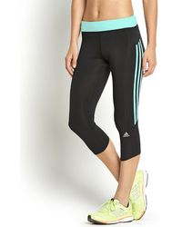 Adidas Response Threequarter Tights - Lyst