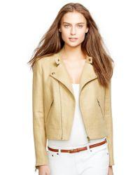 Ralph Lauren Linen Herringbone Jacket - Lyst
