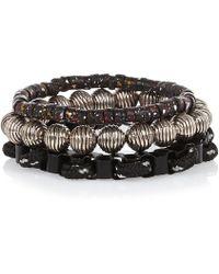 River Island Black Bracelet Pack - Lyst