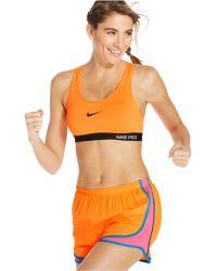 Nike Pro Racerback Sports Bra - Lyst