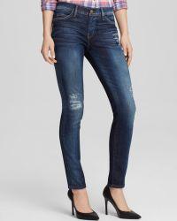 Current/Elliott Jeans - Ankle Skinny In Old Blue Repair - Lyst
