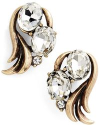 Allison Reed - Curved Crystal Earrings - Lyst