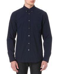 Acne Studios Isherwood Cottonpoplin Shirt Navy - Lyst
