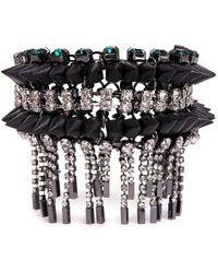 Venna   Crystal Spike Fringe Bracelet   Lyst