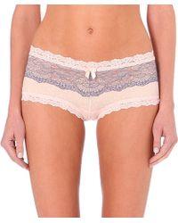 Hanky Panky Emma Lace Shorts - For Women - Lyst
