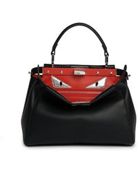 Fendi | Peekaboo Mini Monster Leather Satchel | Lyst