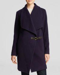 Ralph Lauren Lauren Chloe Drape Front Coat - Lyst