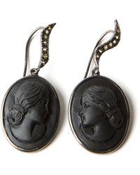 Amedeo - Lava Lady Sapphire Drop Earrings - Lyst
