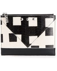Kenzo White Squares Clutch - Lyst