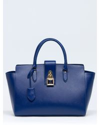 Patrizia Pepe Bowling Bag in Leather with Shoulder Strap - Lyst