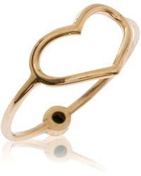 Jordan Askill - Pearl Jordy Heart Birthstone Ring - Lyst