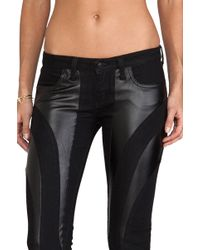 Frankie B. Jeans - Exclusive Bionic Stretch Vegan Leather Jegging in Black - Lyst