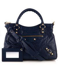 Balenciaga Giant Town Grained-leather Shoulder Bag - Lyst