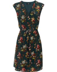 Oasis Primrose Floral Silk Dress - Lyst