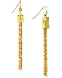 Vince Camuto 'Go To Basics' Tassel Drop Earrings - Lyst