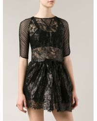 Maria Lucia Hohan - Cropped Lace Blouse - Lyst
