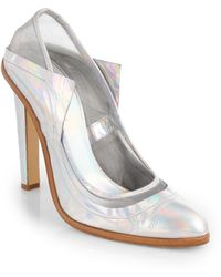 Christopher Kane Iridescent Leather Mesh Pumps - Lyst