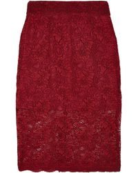 Ganni Lace Pencil Skirt - Lyst