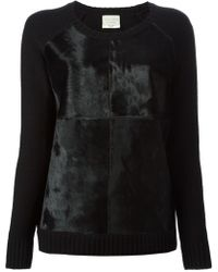 Forte Forte Calf Hair Panelled Sweater - Lyst