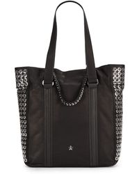 Ash Grommet Studded Leather Tote - Lyst