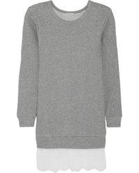 Clu Lacetrimmed Cottonblend Terry Mini Dress - Lyst