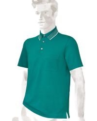 Hermes Striped Collar Polo Shirt with Pocket - Lyst