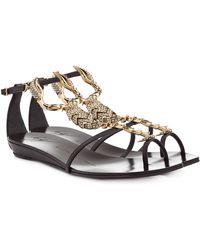 Giuseppe Zanotti Bejeweled Scorpion Flat Sandal - Lyst