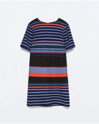 Zara Striped Dress - Lyst
