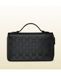 Gucci Gg Imprime Travel Document Case - Lyst