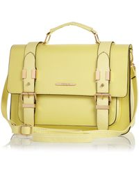 River Island Yellow Large Satchel Bag - Lyst