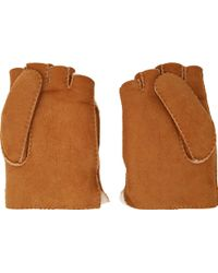 Mackage - Tan Shearling Lennon Convertible Gloves - Lyst