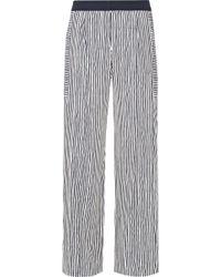Maiyet - Striped Silk Wide-leg Pants - Lyst