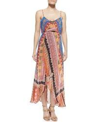 Camilla Printed Silk Convertible Maxi Dress - Lyst