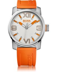 BOSS Orange - Wristwatch 'ho7008' With A Silicone Strap - Lyst