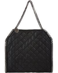 Stella McCartney Quilted Baby Bella Shaggy Deer Tote - Lyst