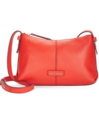Cole Haan Emma Leather Crossbody Bag red - Lyst