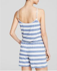 Tommy Bahama - Stripe Romper Swim Cover Up - Lyst