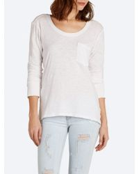 Current/Elliott The Long Sleeve Pocket Tee - Lyst