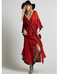 Free People Red Bombora Dress - Lyst
