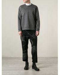 Yohji Yamamoto Dog Print Trouser - Lyst