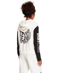 DKNY Jeans Logo Hoodie - Lyst