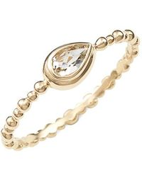 Anzie - 'dew Drop' Stacking Ring - Lyst