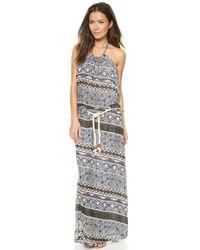 Karen Zambos - Corrine Dress - Blue Aztec - Lyst