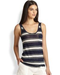Joie Carmenella Striped Linen Tank Top - Lyst