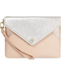 Tory Burch Robinson Large Envelope Clutch Bag - For Women - Lyst