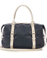 Oasis Navy Strappy Holdall - Lyst