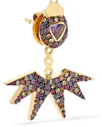 Daniela Villegas - Pow Wow 18-karat Gold Sapphire Earring - Lyst