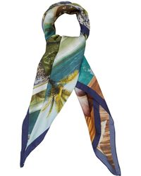 Maia Franceschi - Multicolour Sea Dreams Silk Scarf - Lyst
